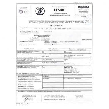 Patentino saldatori 141