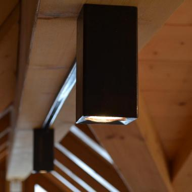 Luce a soffitto in acciaio naturale