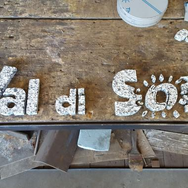 scarti di taglio scritta Val di Sole