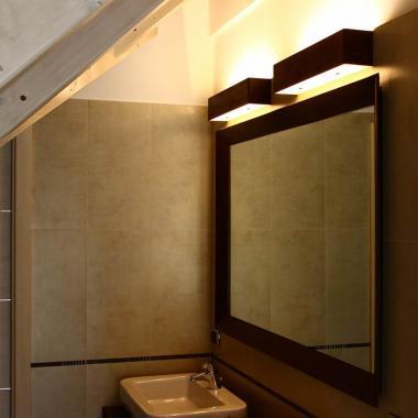 Luce a led da parete per specchio o parete in acciaio Cor-Ten