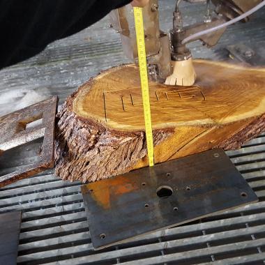 taglio legno irregolare da spessore 90 - 110 mm