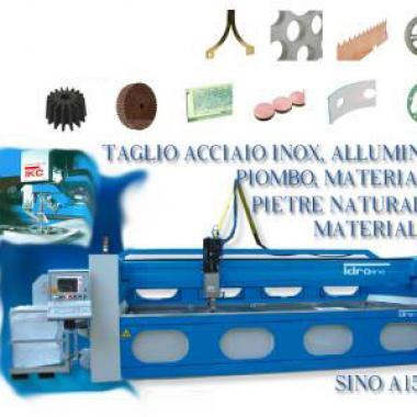 Tipologie e materiali tagliabili con sistema CMS Tecnocut IdroLINE