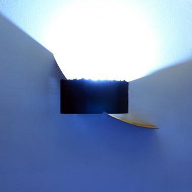Luce a led da parete in acciaio naturale e Cor-Ten