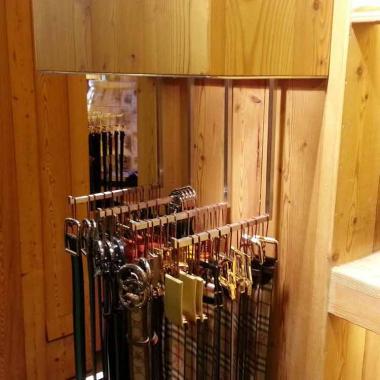 Porta cinture / Porta vestiti in acciaio inox satinato