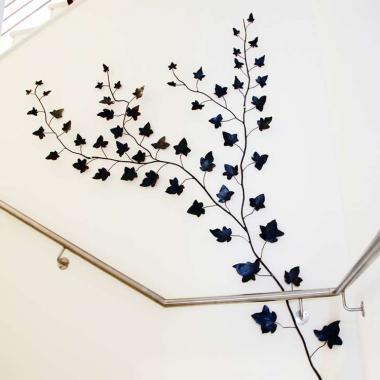 Ornamento da parete in ferro battuto
