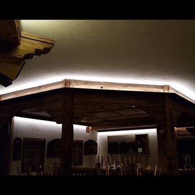 Veletta in acciaio naturale per illuminazione