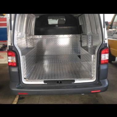 rivestimento furgone alluminio mandorlato