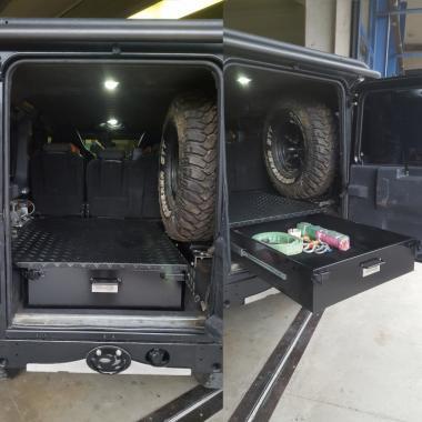 cassetto interno DEFENDER FERRO + ripiano 750 x 750
