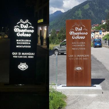 Insegna Massimo Goloso 750 x 750