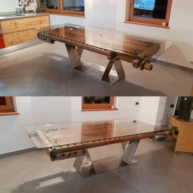 Tavolo Inox smerigliato 750 x 750