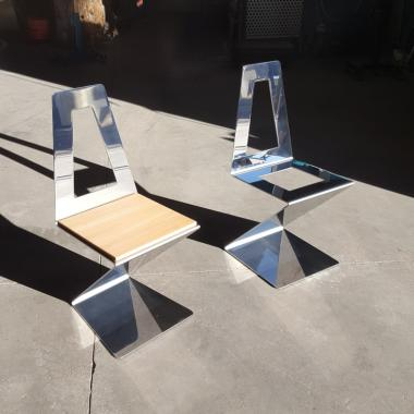 sedie inox lucido 750 x 750