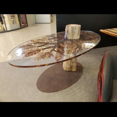 tavolo legno fossile 750 x 750